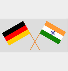 Germany and india german and indian flags vector