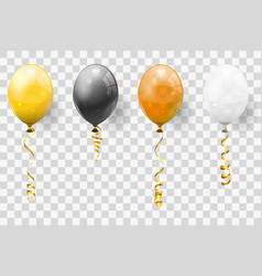 golden streamer and balloons vector image