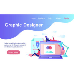 Graphic designer flat style banner vector