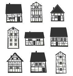 Half-timbered houses vector