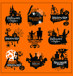 Halloween holiday horror monster symbol design vector