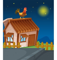 House and hen vector