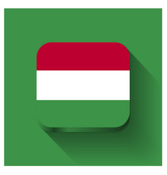 hungary flag design vector image