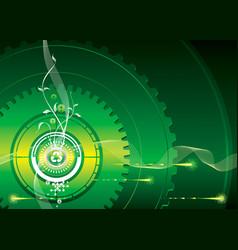 industrial green vector image