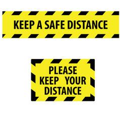 Keep a safe distance social distancing sign banner vector