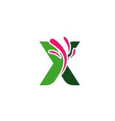letter x logo symbol design template elements vector image