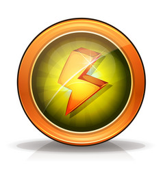 Lightning icons badge for game ui vector