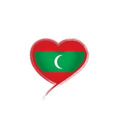 Maldives flag on a white vector