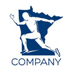 modern runner logo vector image