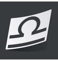 Monochrome Libra sticker vector image