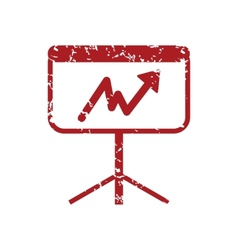New red grunge unstable graph logo vector image