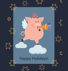 new year greeting card 3 vector image