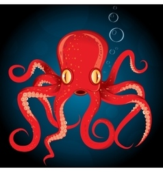 Octopus animal underwater vector