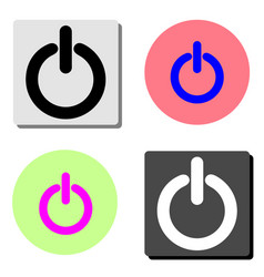 on off switch flat icon vector image