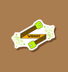 Paper sticker on stylish background weight loss vector