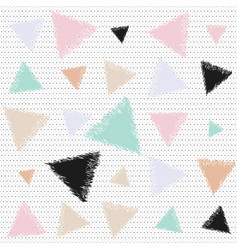Pastel pattern with triangles vector