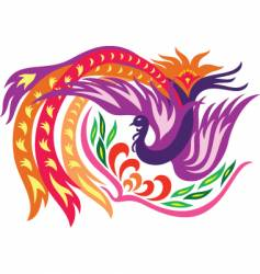 phoenix with flower vector image