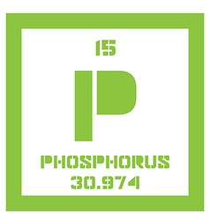 Phosphorus chemical element vector image