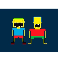 Pixel People vector image