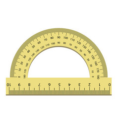 plastic angle ruler icon realistic style vector image