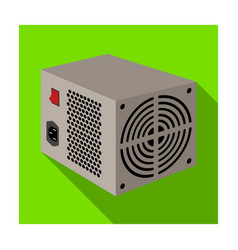 Power supply unit icon in flat style isolated on vector