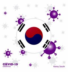 Pray for korea south covid-19 coronavirus vector
