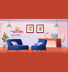 psychologist office for family therapy in clinic vector image