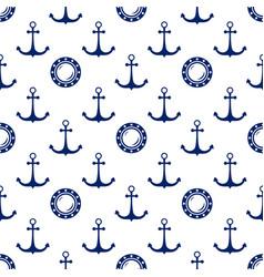 Seamless maritime pattern vector