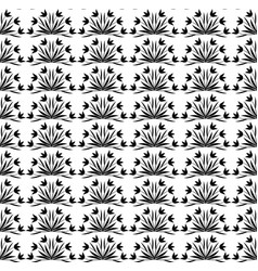 seamless pattern black and white stylized floral vector image