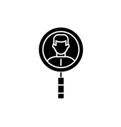 search for colleagues black icon sign on vector image