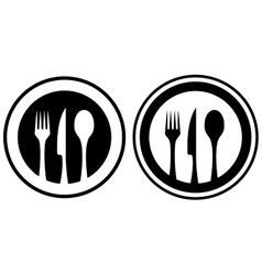 Set food icon with kitchen utensil vector