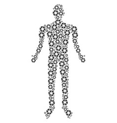 shutter person figure vector image