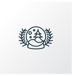 snow globe icon line symbol premium quality vector image
