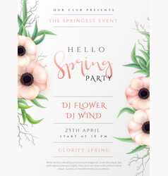 spring party poster vector image