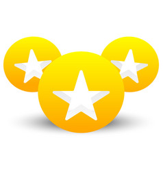 Star icon with composition of 3 circles with vector