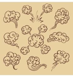 Steam in retro sketch cartoon style vector