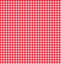 Tablecloth seamless pattern red vector