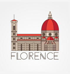 The cattedrale di santa maria del fiore - the vector