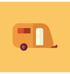 Trailer Transportation Flat Icon vector