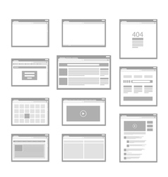 web site page templates collection vector image