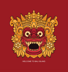 Welcome to bali island design vector