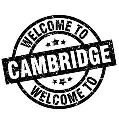 Welcome to cambridge black stamp vector