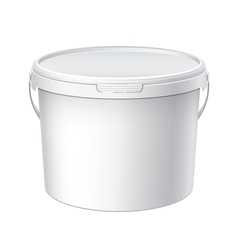 White blank plastic container vector image