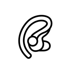 Wireless earphone for business calls icon vector