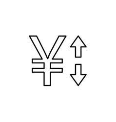 yuan arrow up down icon element of finance signs vector image