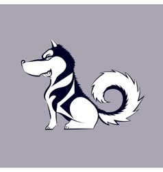 Cartoon husky dog vector image