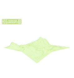 green fantastic landscape on a white background vector image vector image