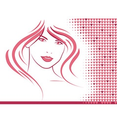 Hair and Hearts vector image vector image