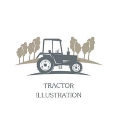 Logotype tractor - vector