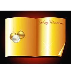 beautiful golden christmas book design vector image